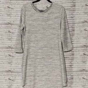 GAP Womens Gray Shirt Dress SZ:M 3/4 Sleeve
